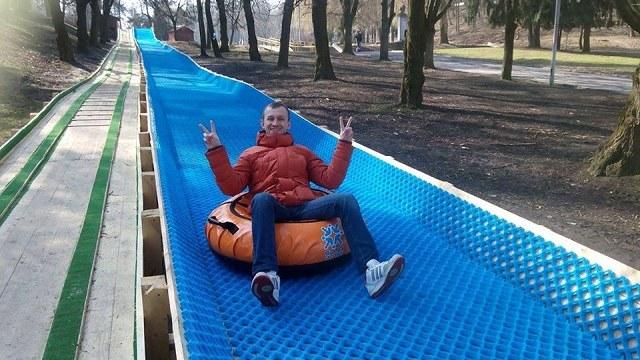 Від сьогодні можна кататись на новому атракціоні в Парку культури ... f60ebdaa4c8fe